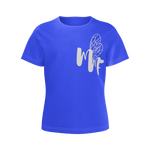 MMF Girls Azure/White Short Sleeve Shirts