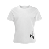 MMF Girls White/Black Short Sleeve Shirts