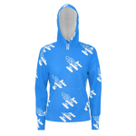 MMF Men Baby Blue/White Pullover Hoodies
