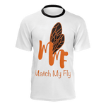 MMF Men White/Orange/Black Short Sleeve Shirts