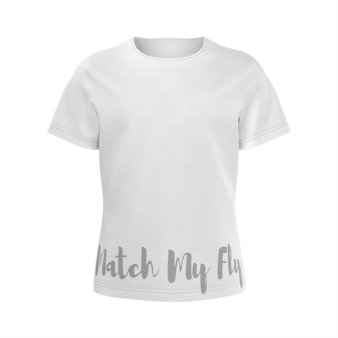MMF Girls Grey/White Short Sleeve Shirts