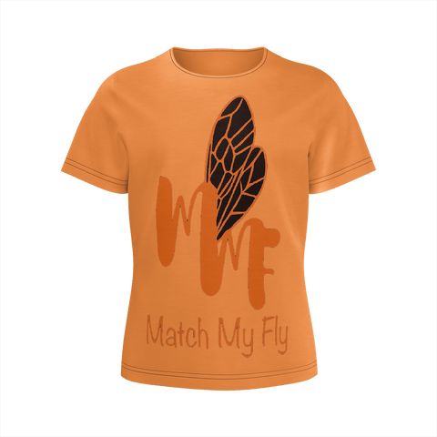 MMF Girl Orange/Black Short Sleeve Shirts