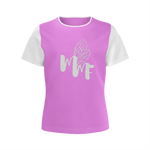 MMF Girls Pink/White Short Sleeve Shirts