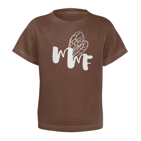 MMF Boys Brown/White Short Sleeve Shirts