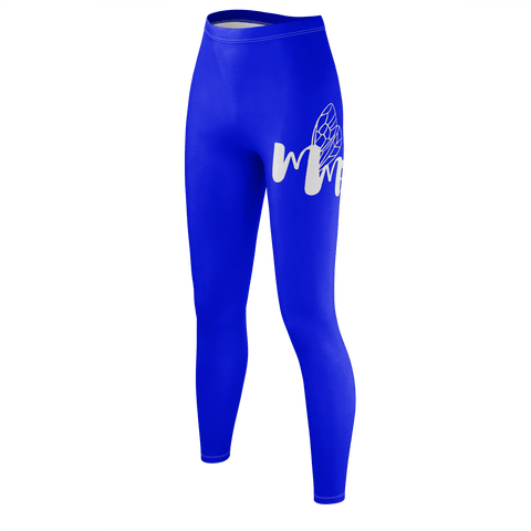 MMF Women Blue/White Leggings