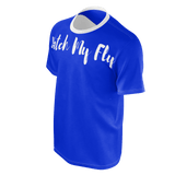 MMF Men Blue/White Short Sleeve Shirts
