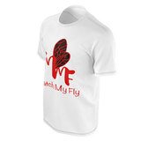 MMF Men  White/RedOrange/Black Short Sleeve Shirts