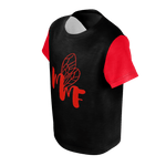 MMF Toddlers Black/Red Short Sleeve Shirts