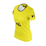 MMF Women Yellow/Black Short Sleeve Shirts