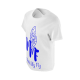 MMF Girl White/Blue Short Sleeve Shirts