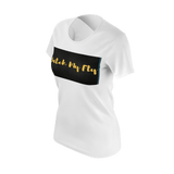 MMF Women  White/Mustard/Black Short Sleeve Shirts