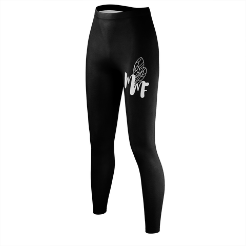MFF Women Black/White Leggings