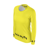 MMF Women Yellow/Black Long Sleeve Shirts