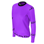 MMF Women Purple/Black Long Sleeve Shirts