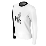 MMF Women Black/White Long Sleeve Shirts