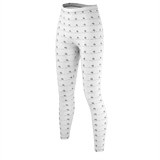 White MMF leggings