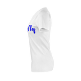 MMF Womens White/Blue Short Sleeve Shirts