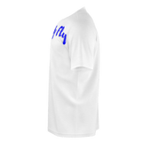 MMF Men White/Blue Short Sleeve Shirts