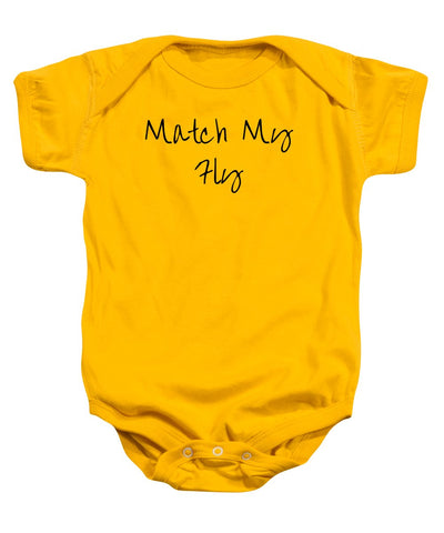 Match My Fly  - Infant Girls Grey/Black Onesie