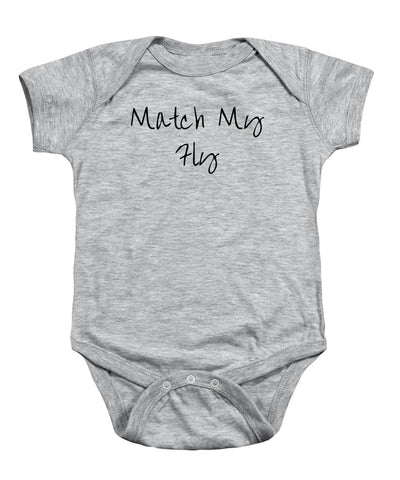 Match My Fly  - Infant Boy Grey/Black Onesie