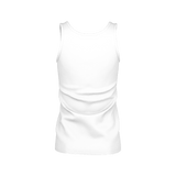 MMF Women White/Black Tank Tops