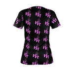 MMF Women Black/Pink Short Sleeve Shirts