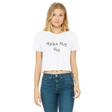Match My Fly Women's Cropped Raw Edge Short Sleeve Shirts