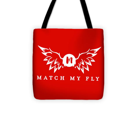Match My Fly  - Red Tote Bag