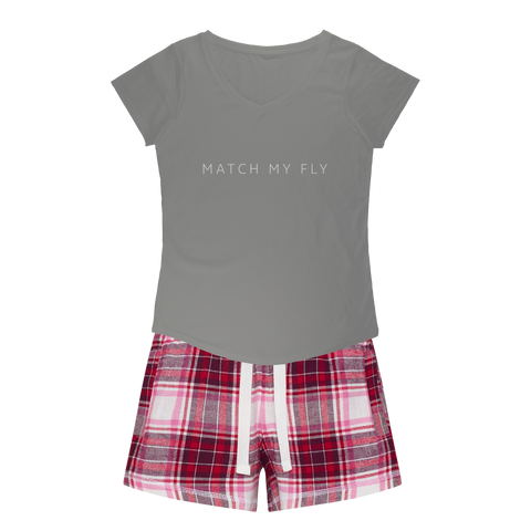 Match My Fly Girls Sleepy Tee and Flannel Short