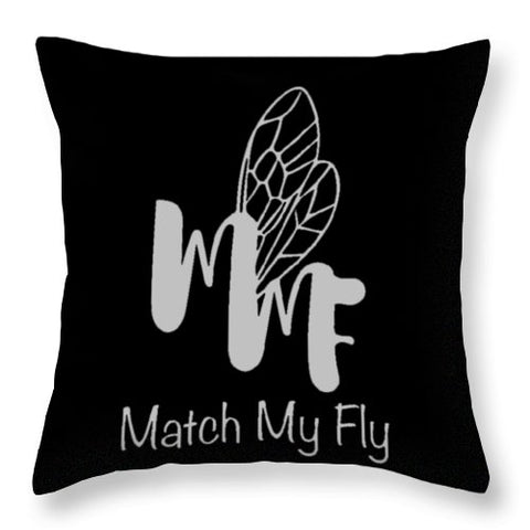 Match My Fly  -Black/White Throw Pillow