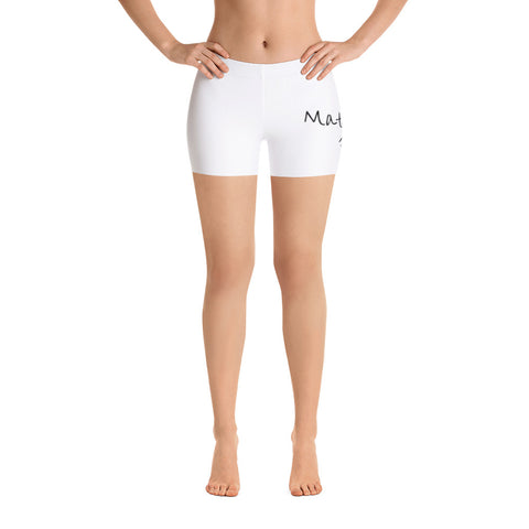 MMF Women White/Black Shorts