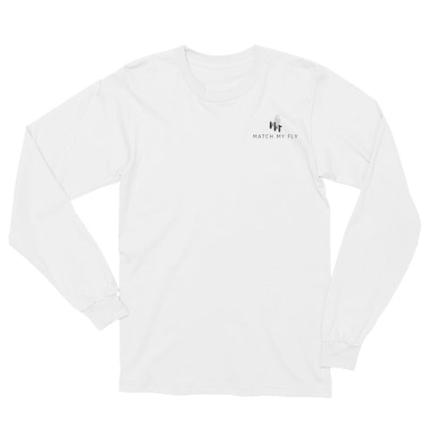 MMF Men White/Black Long Sleeve T-Shirt