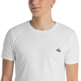 MMF Men White/Black Short Sleeve Tshirts