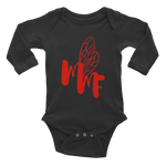 MMF Black/Red Infant Long Sleeve Bodysuit