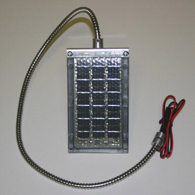 6 VOLT & 12 VOLT SOLAR CHARGERS WITH CABLE BRACKET