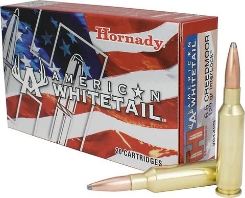 Hornady InterLock® American Whitetail® 6.5 Creedmoor/129-Grain Rifle Ammunition, Box of 20 **CLEARANCE**