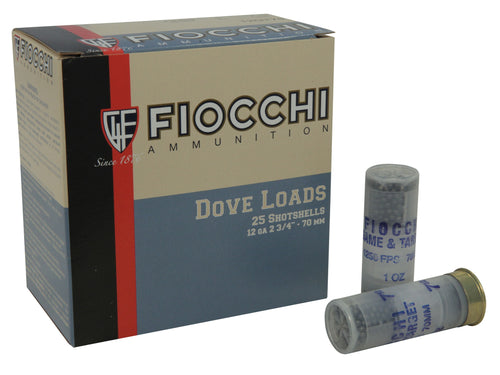 Fiocchi 12 Gauge Dove Ammo, Box of 25 **CLEARANCE**