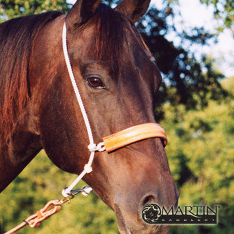 Martin Saddlery Rope Headsetter with Leather Covered Nosepiece