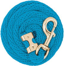 Load image into Gallery viewer, Poly Lead Rope with Brass Plated Bull Trigger Snap, Asst. Colors