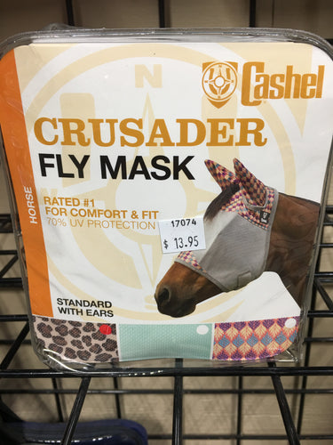 Cashel Crusader Standard Fly Mask with Ears, Horse/Asst. Styles