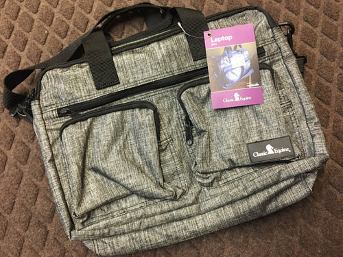 Classic Equine Laptop Bag, Grey