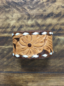McIntire Saddlery Tooled Leather Cuff, Asst. Colors