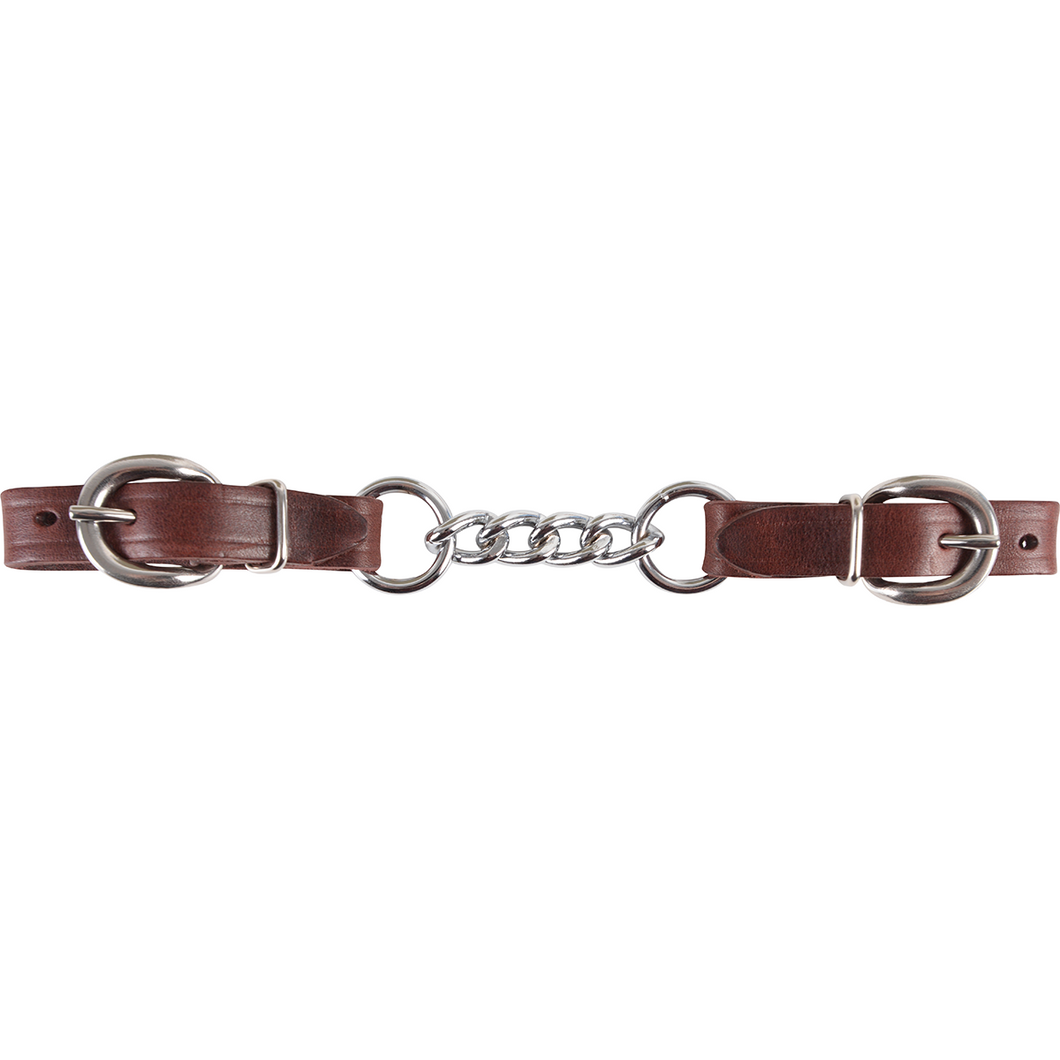 Martin Saddlery Flat Chain Curb Strap, Latigo