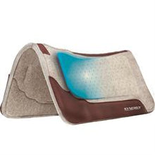 Load image into Gallery viewer, Synergy® Contoured Performance Wool Blend Felt Saddle Pad, Without Gel