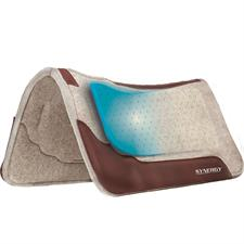 Synergy® Contoured Performance Wool Blend Felt Saddle Pad, Without Gel