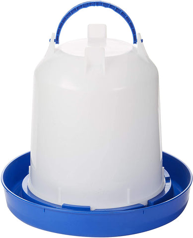 Double-Tuf 2.5 Gallon Poultry Waterer, Blue/White Plastic