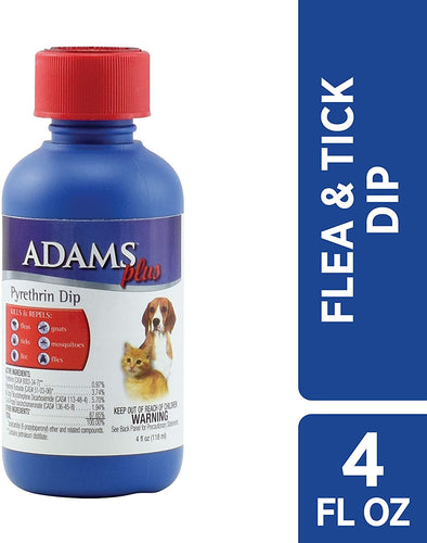 Adams Plus Pyrethrin Dip for Dogs and Cats, 4 fl oz.