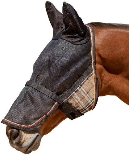 Kensington Fly Mask with Ears and Removable Nose, Asst. Colors