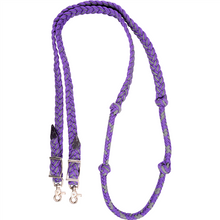 Load image into Gallery viewer, Martin Saddlery Braided Nylon Barrel Rein with Knots, Asst. Colors