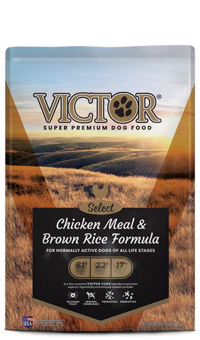 Victor Chicken Meal & Brown Rice Formula, Dog Food/Asst. Sizes